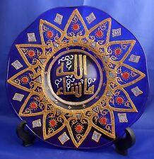 Islamic Muslim glass plate ( Ma Sha Allah ) Hand painting /Home decorative