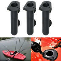 Flush Mount Fishing Boat Rod Holder Bracket With Cap Cover for Kayak Pole