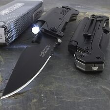 """8.5"""" WARTECH 6-IN-1 MULTI-TOOL SPRING ASSISTED FOLDING POCKET KNIFE + FLASHLIGHT"""