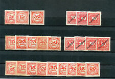 Austria/Österreich    MNG/MNH Postage Due Stamplot from 1918/22