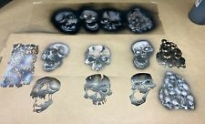 AIRBRUSH STENCIL FOR RC BODY, WICKED SKULL SET WITH TEXTURE STENCIL