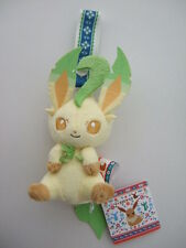Leafeon Plush Figure Doll Stuffed Toy Pokemon I LOVE EIEVUI EEVEE Mascot Strap