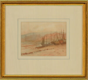 Henry S.W. Eyre (1872-1937) - Early 20th Century Watercolour, Moored Boats