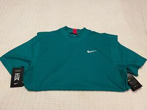 Nike TW Vapor Golf Mock Masters Green Polo Medium NWT