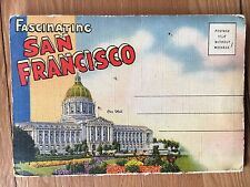 Vintage Fascinating San Francisco Fold Out Postcard, unposted