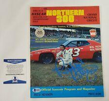 Richard Petty Signed Program 1973 The Northern 300 Winston Cup  Beckett COA