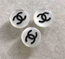 """Chanel Vintage 16mm Pearl White Shank Buttons 3pc Set 5/8"""""""