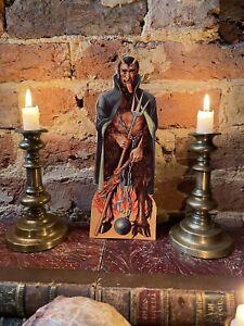 Vintage German Dresden Krampus Christmas Devil Standee Cut Out Figure Halloween