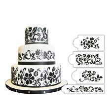 Floral Explosion Cake Stencil Set, 4 pieces