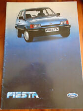 Ford Fiesta Export range brochure Aug 1984 English text