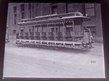 Open 9 Bench Surface Car Trolley~ Everett South Boston Circa 1900 Glass Negative