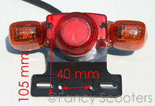 Mini Chopper Tail Light with Turn Signals, Mounting Bracket 5 Wires