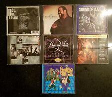 Jazz Funk Music 7x CD Lot Barry White Glenn Miller Warner Jams BB King & More NM