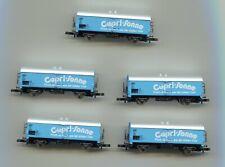 More details for 5 x marklin   capri-sonne refrigerated wagon