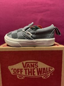 vans comfycush Slip -on VN0A4TZKWl9 baby boy toddlers shoes sz 4 Gray Color NWB