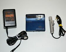 Lettore Sony Portable Minidisc Recorder MZ-N1 blue color walkman vintage