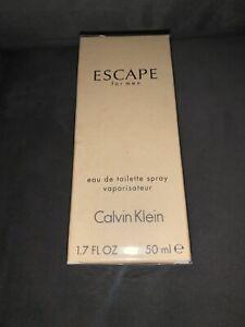 Calvin Klein ESCAPE for Men Eau De Toilette Cologne Spray 1.7 fl oz NIB sealed