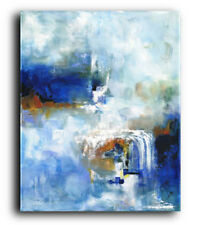 Blue Original Painting Blue Abstract Painting Large Blue Painting Modern Art