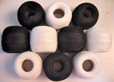 Lot of 10 Cotton Yarn - Tatting Thread -Crochet Lace Knitting Embroidery Size 20