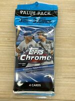 2020 Topps Chrome Baseball Value Cello Pack - New & Factory Sealed FREE SHIPPING