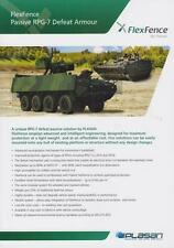 PLASAN FLEXFENCE 2015 MILITARY BROCHURE PROSPEKT FOLDER DEPLIANT