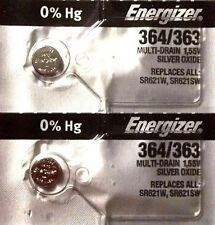 2 NEW ENERGIZER SR621SW 364/363 Silver Oxide 1.55v Watch Batteries Aussie Stock
