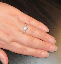 Simulated Diamond Solitaire Ring - Size K (USA 16)