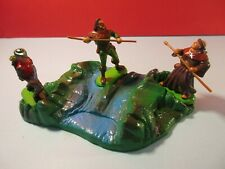 Britains Toy Soldiers ROBIN HOOD FIGURES plus SCENERY PIECE