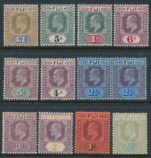 1903 FIJI DEFINITIVES SET OF 11 MINT LIGHTLY HINGED SG104-SG114 KING EDWARD VII