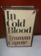 True Crime In Cold Blood Truman Capote First Printing-Book Club Edition HCDJ
