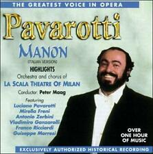 The Greatest Voice in Opera: Highlights from Manon (CD, Jul-1995, Pavarotti)
