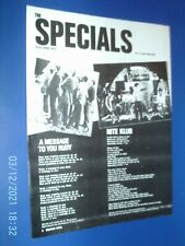 More details for the specials - message to rudy ska 2 tone - a4 poster advert 1970s original