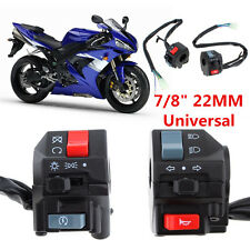 "12V Motorcycle 7/8"" Handlebar Horn Turn Signals Electrical Start Switch On/Off"