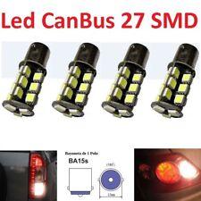 4 Bombillas Led 1156 CAN-BUS BA15S 27 SMD5050 Luz Blanca 1 Polo