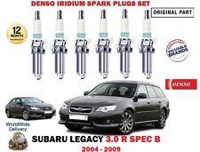FOR SUBARU LEGACY 3.0 R SPEC B 2004-2009 NEW DENSO IRIDIUM 6 X SPARK PLUGS SET
