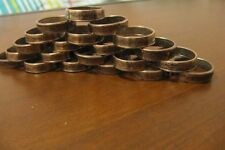 WHOLESALE LOT OF STATE QUARTER COIN RINGS 10 PCS, VARIOUS STATES,SIZES 7.5-9