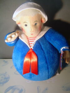 Schylling Reproduction Roly Poly Sailor classic soft felt toy store new 12 inch