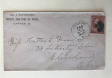 1887 Cover Geo. A. Winterhalter Millinery Fancy Goods And Notions Canton Ohio
