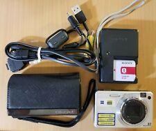 Sony Cyber-shot DSC-W150 8.1MP Digital Camera - Silver TESTED Bundle