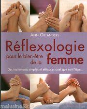 Livre  réflexologie pour le bien être de la femme