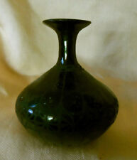 Mata Ortiz Black Pottery Small Vase Signed Carmen F. De Baca As Is