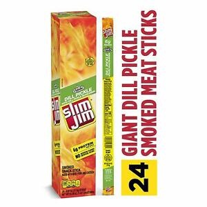 Slim Jim Dill Pickle Smoked Flavor, 24 Pack, 0.97 OZ Each