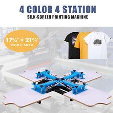 Preenex 4 Station Silk Screen Printing Machine For 4 Color Design Shirts Amp More