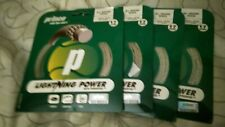 4 PACKS of PRINCE LIGHTNING POWER 17 WHITE RARE TENNIS RACKET STRING BUY NOW $40