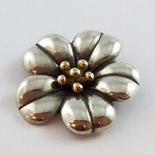 RETIRED James Avery April Flower Sterling Silver 18k Yellow Gold Pendant Brooch