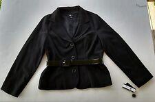 NWT ~AB Studio Black Blazer Suit Jacket Size 14 with Belt