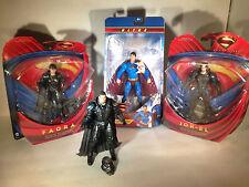 Lot # 34 - DC Universe, Direct Figures Superman, Zod, Faora, Jor-el