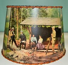"Adirondack Lean-to Lamp Shade 8"" x 10"" clip top, Rustic Decor"