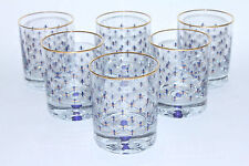 EXCLUSIVE Russian Imperial Lomonosov Set 6 Glasses for Whiskey Cobalt Net whisky