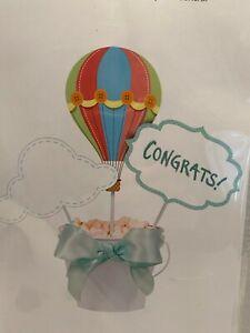 Up, Up &Away Air Balloon Baby Shower Birthday Centerpiece Sticks 3sticks/3 signs